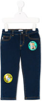 Moschino Kids - Moschino patch jeans - kids - Cotton/Polyester/Spandex/Elastane/Viscose - 24 mth