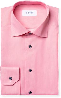 Eton Men's Contemporary-Fit Twill Dress Shirt