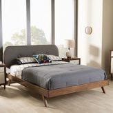Baxton Studio Pandora Mid-Century Modern Upholstered Platform Bed