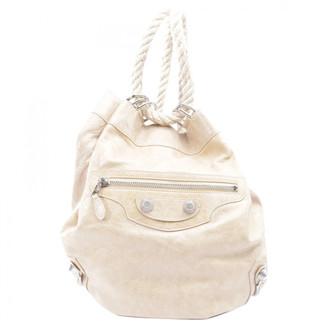 Balenciaga Beige Leather Backpacks
