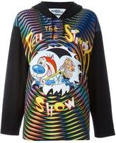 Jeremy Scott Ren & Stimpy print hoodie
