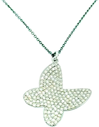 Arthur Marder Fine Jewelry Silver 1.35 Ct. Tw. Diamond Necklace