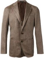 Caruso classic blazer - men - Wool/Silk/Inox/Cupro - 48