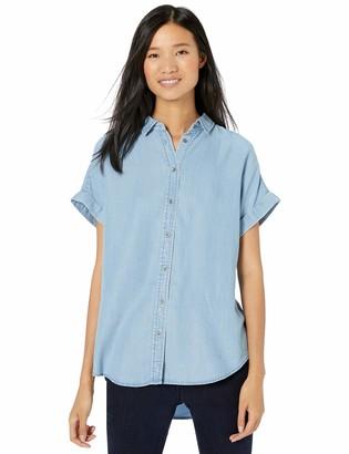 Goodthreads Tencel Short-Sleeve Shirt Light Wash