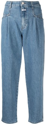 Closed High Rise Tapered-Leg Jeans