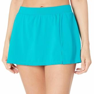Caribbean Joe Women's Solid Side-Slit Skirted Bikini Bottom