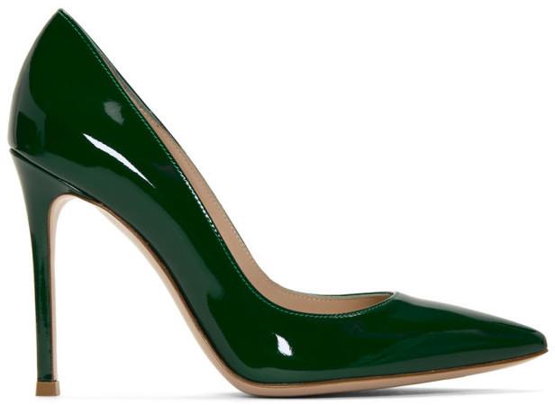 Gianvito Rossi Green Patent Gianvito Pumps