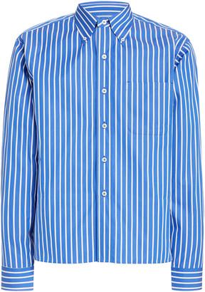 Prada Logo Striped Cotton Shirt