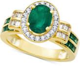 Macy's Emerald (1-3/4 ct. t.w.) & Diamond (3/8 ct. t.w.) Ring in 14k Gold