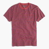 J.Crew Slub cotton textured cotton pocket T-shirt in blue stripe