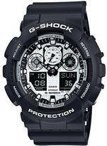 G-Shock Black Resin Watch, GA100BW1A