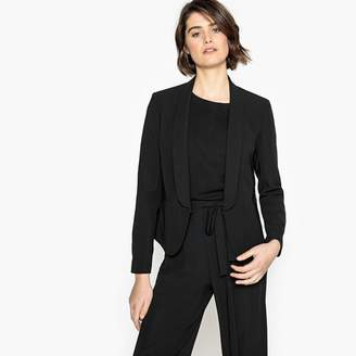 La Redoute Collections Lightweight Fitted Blazer-Style Jacket with Large Shawl Collar