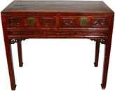 One Kings Lane Vintage Antique Chinese Hand-Carved Desk