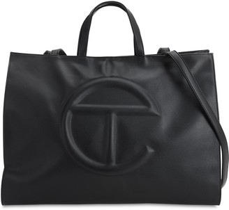 Telfar Large Embossed Logo Shopper Tote Bag