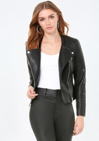 Bebe Collarless Moto Jacket