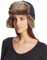 Barbour Faux Fur-Trimmed Trapper Hat