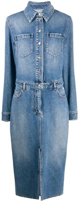 MSGM Denim Shirt Dress