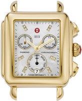 Michele 18mm Deco Diamond Dial Watch Head, Gold