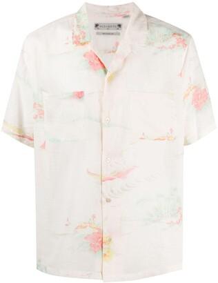 AllSaints floral-print Hawaiian shirt