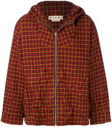 Marni houndstooth oversized coat