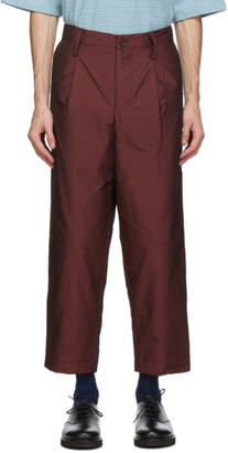 Issey Miyake Red Insulated Memory Trousers