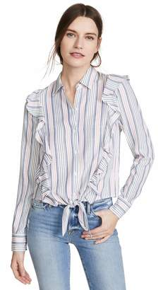Jack by BB Dakota Women's Ruffle Rider Stripe Shirt