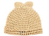 Federica Moretti Raffia beanie hat