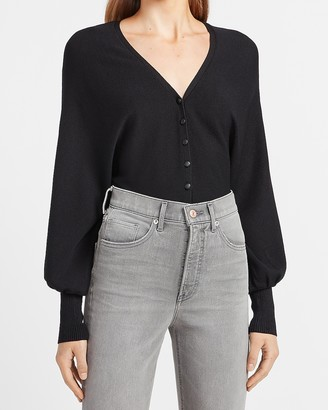 Express Balloon Sleeve V-Neck Cardigan