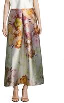 ABS by Allen Schwartz Tafetta Floral Print A Line Skirt