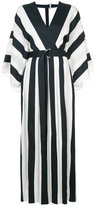 ADAM by Adam Lippes plunge stripe dress