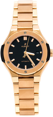 Hublot Black 18K Rose Gold Classic Fusion 585.OX.1180.OX Women's Wristwatch 33 mm
