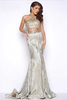 Mac Duggal Long Two-Piece Prom Dress 65862M