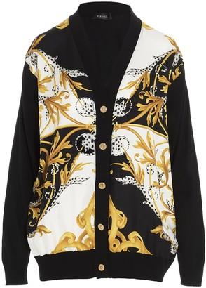 Versace Baroque Print V-Neck Cardigan