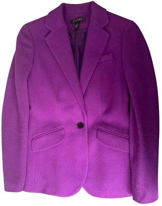 Lauren Ralph Lauren Purple Wool Jacket for Women