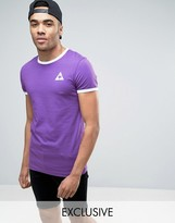 Le Coq Sportif Ringer T-shirt In Purple Exclusive To Asos 1611261