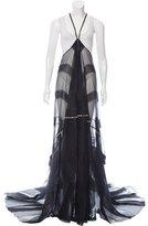 Altuzarra 2015 Embellished Silk Overlay