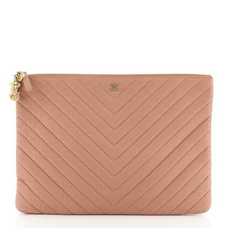 Chanel Timeless/Classique Pink Leather Clutch bags