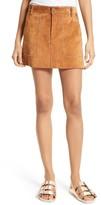 Rebecca Minkoff Women's Barry Suede Miniskirt