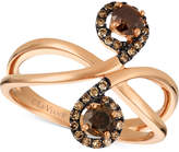 LeVian Le Vian Chocolatier Diamond Swirl Ring (5/8 ct. t.w.) in 14k Gold
