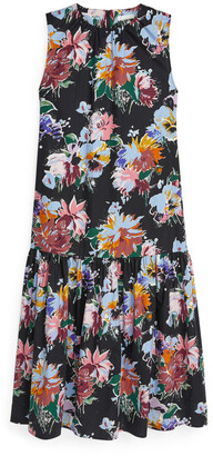 Arket Drop-Waist Printed Dress