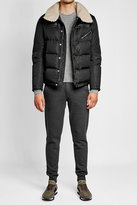 Moncler Down Jacket with Shearling