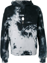 Alexander Wang Classic Black tie dye hoodie - men - Cotton - 46