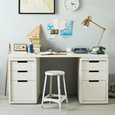 west elm Modular Office Basic Desk Set - White