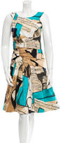Oscar de la Renta Printed Flared Dress