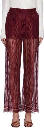 Jonathan Simkhai Lace detail fringed pants