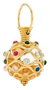 Temple St. Clair Nature Deconstructed Theodora 18K Yellow Gold Mixed Gemstones & Diamonds Amulet
