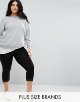 New Look Plus Lace Trim Leggings