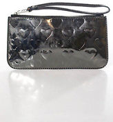 Marc by Marc Jacobs Silver Plastic Zipper Closure One Pocket Clutch Handbag