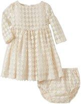 Sonia Rykiel Enfant Embroidered Mesh Dress (Baby) - Beige-6 Months