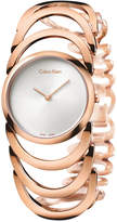 Calvin Klein Women's Swiss Body Rose Gold Pvd Stainless Steel Bracelet Watch 30mm K4G23626